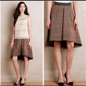 Anthropologie HD in Paris Brown Skirt Size XS